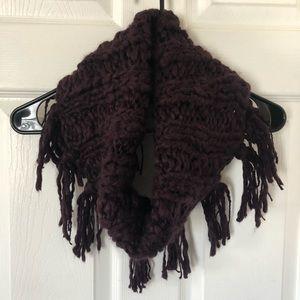 American Eagle Maroon Knit Scarf